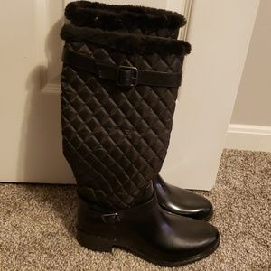 COPY - Tall Quilted Rain boots